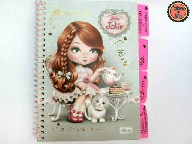 Faça você mesma Caderno de Organização Jolie - Dikas e diy
