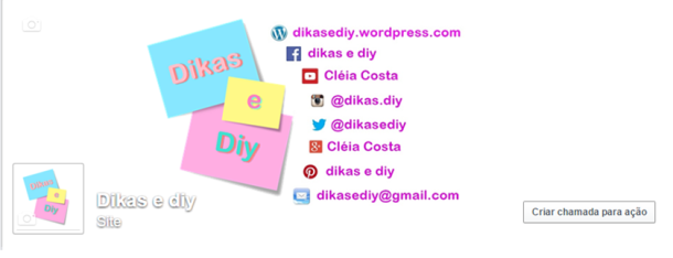 Facebook Blog Dikas e diy