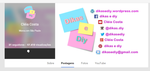 Google plus Blog Dikas e diy