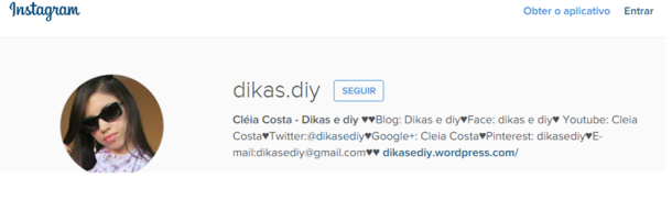 Instagram Blog Dikas e diy