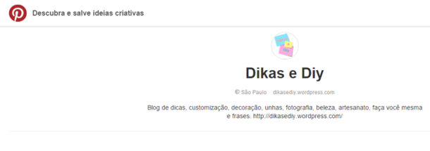 Pinterest Blog Dikas e diy