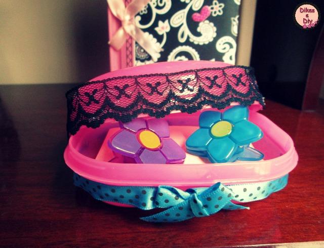 Faça -você -mesma - Porta-treco com saboneteira - Blog Dikas e diy