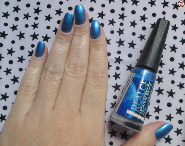 Unhas da semana - Água viva -Realce-mistérios do ocenano- Azul- Blog Dikas e diy