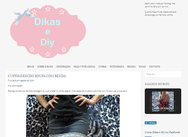 novo layout blog dikas e diy