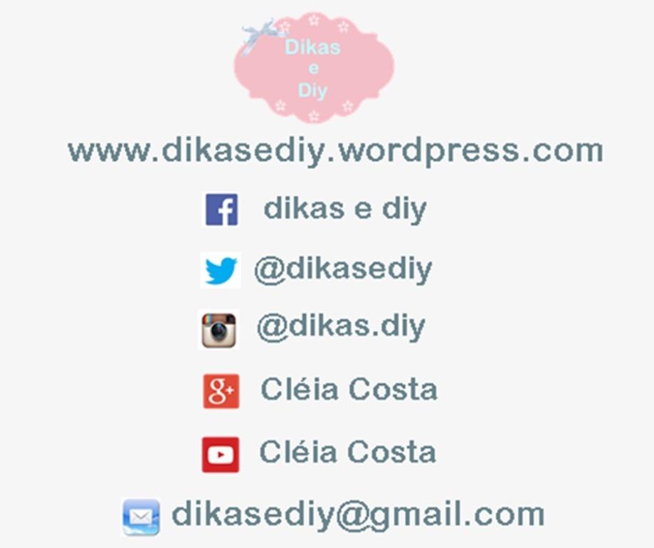Redes sociais  Blog Dikas e diy