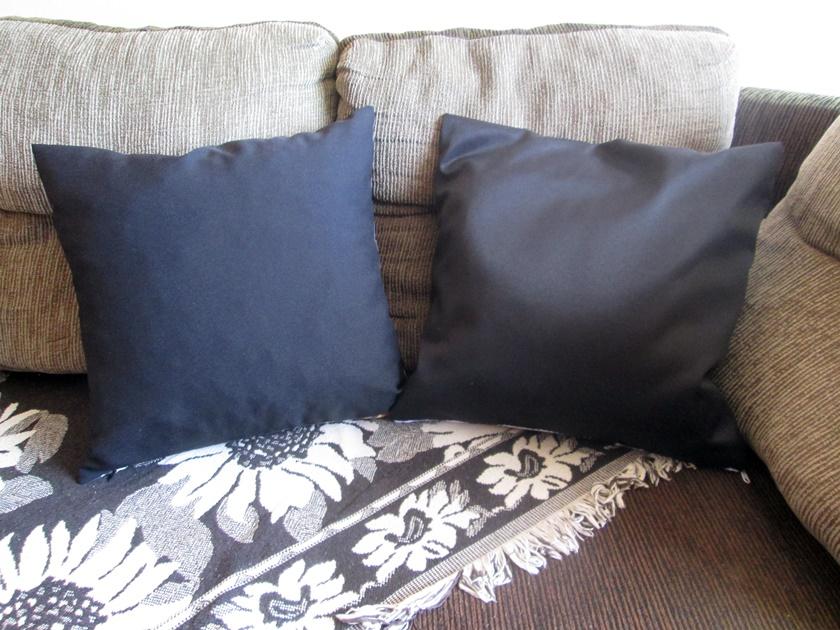 Faça você mesma -Almofadas pretas decoradas com broche - Blog Dikas e diy
