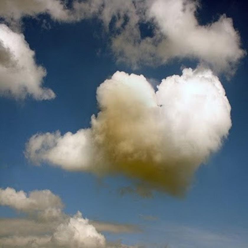 Fotografia - Nuvens de coração - Dia dos namorados- Blog Dikas e diy