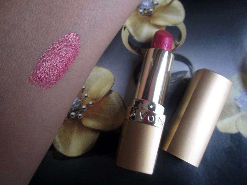 Batom da vez -Avon rosa ouro - cintilante-Blog Dikas e diy