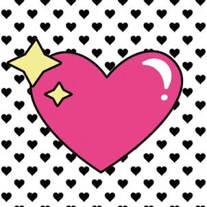 Imagens para imprimir -preto e branco-coração rosa-blog dikas e diy
